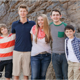 Family portrait photography at the beach in Corona Del Mar