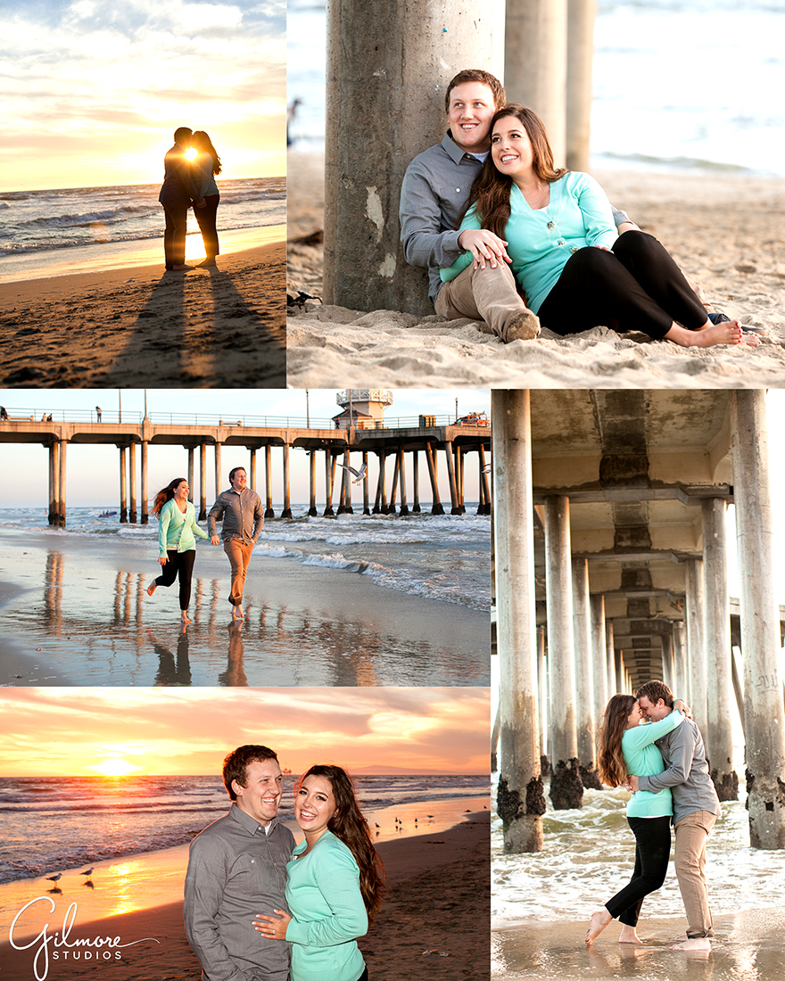 engagement session in huntington beach