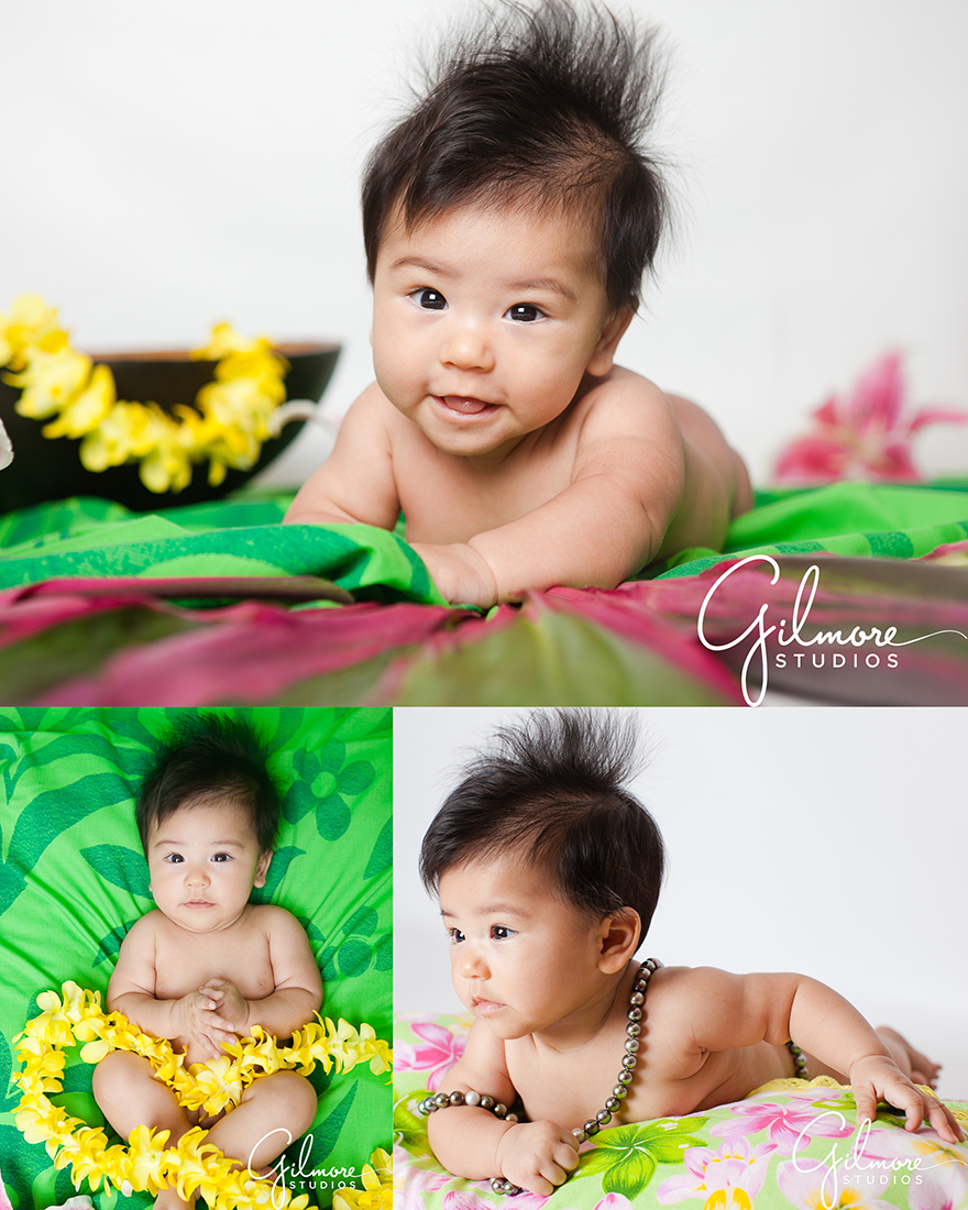 Hawaiian Themed Baby Portrait Photography Session