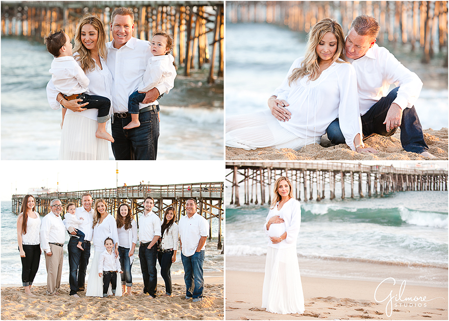 Family maternity portrait photo session at the beach newport beach photographers gilmore studios wedding family newborn maternity