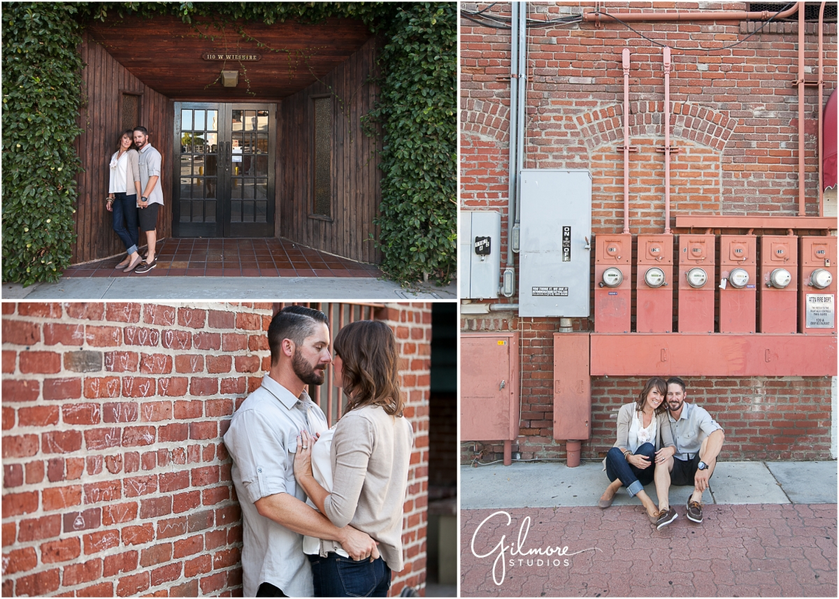 Old Town Fullerton Engagement Photography Session
