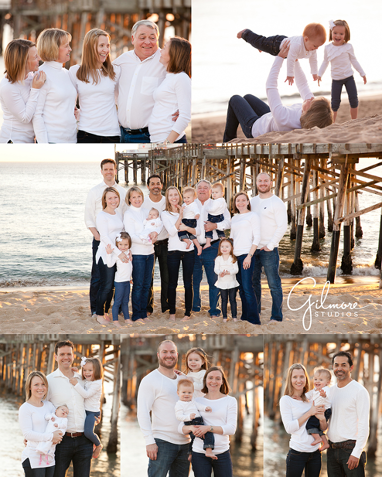 Family Pictures In The Beach: Family Vacation Portrait Session