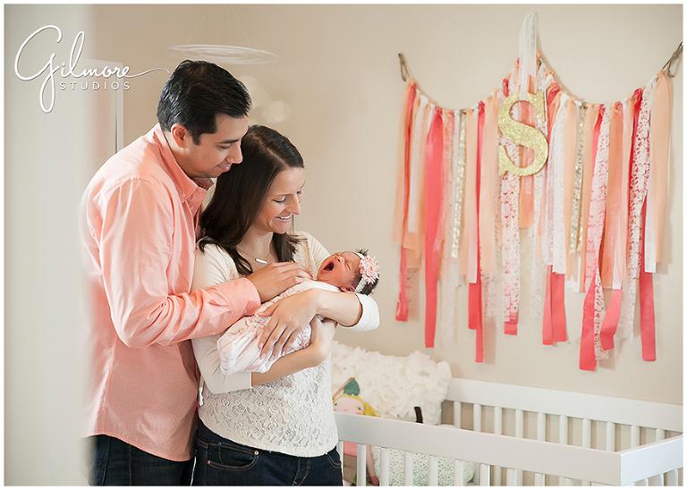 Welcome Home Newborn Baby Girl Photo Session Newport Beach