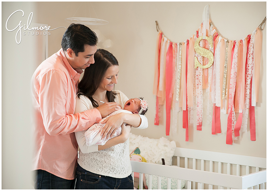 Welcome home newborn baby girl photo session newport beach photographer gilmore studios wedding family newborn maternity and event photographers