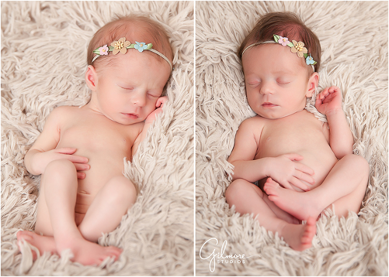 Twins baby girl newborn session newport beach newborn photographer