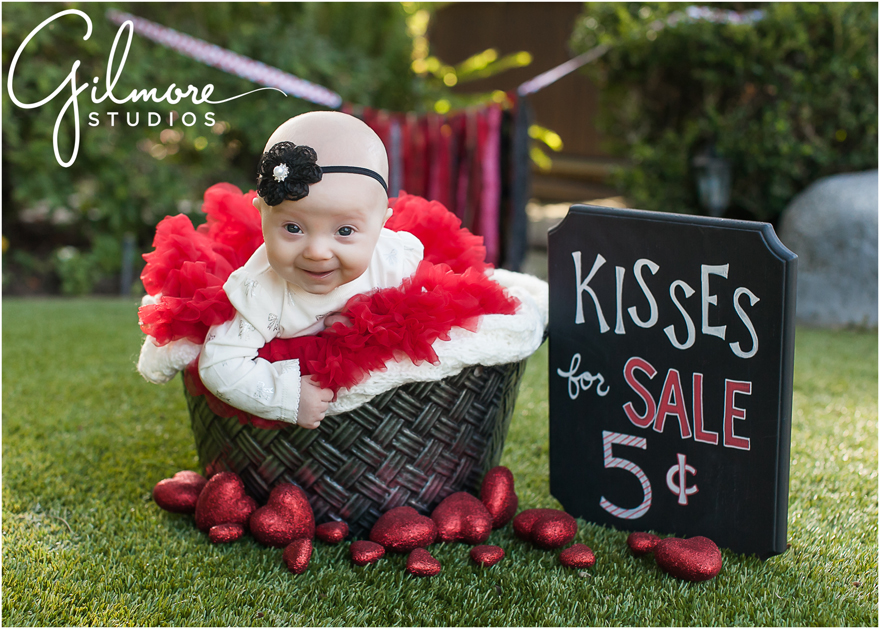 Baby Girl S First Valentine S Day Newport Beach Photographer