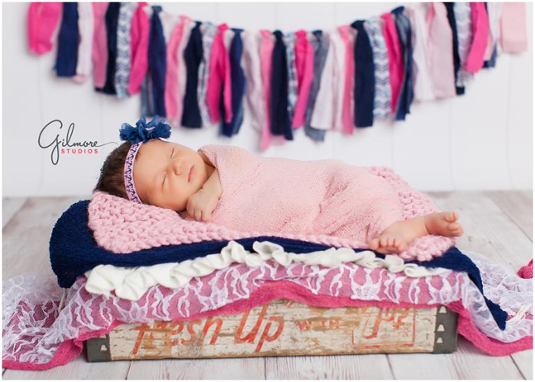 Newborn Baby Girl Portrait Session At Gilmore Studios