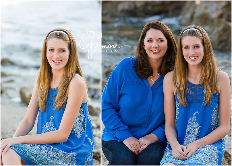 Family Portrait Session At The Beach Corona Del Mar Family Photographer Gilmore