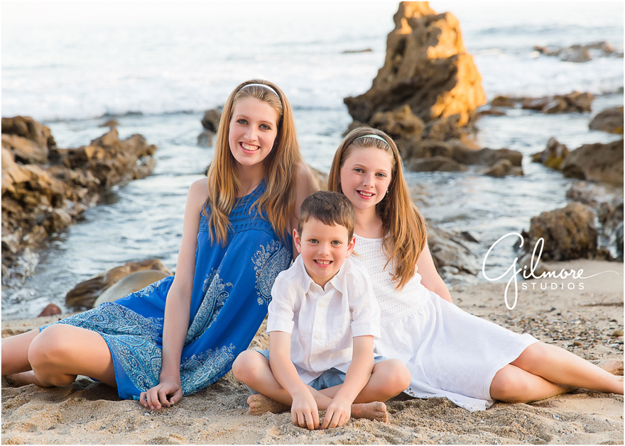 Family Portrait Session At The Beach Corona Del Mar