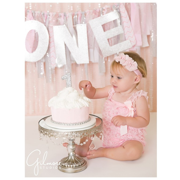 One Year Old Cake Smash Session Orange County Baby