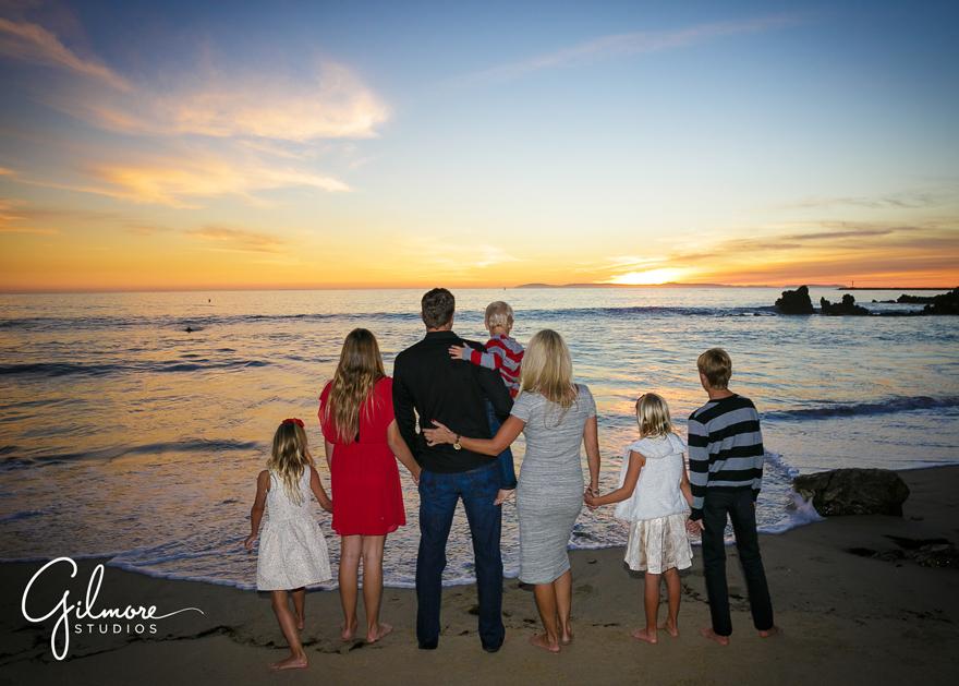 OC Newport Beach Gilmore Family Sunset Beach Portraits Session 13 - hyatt regency newport beach wedding