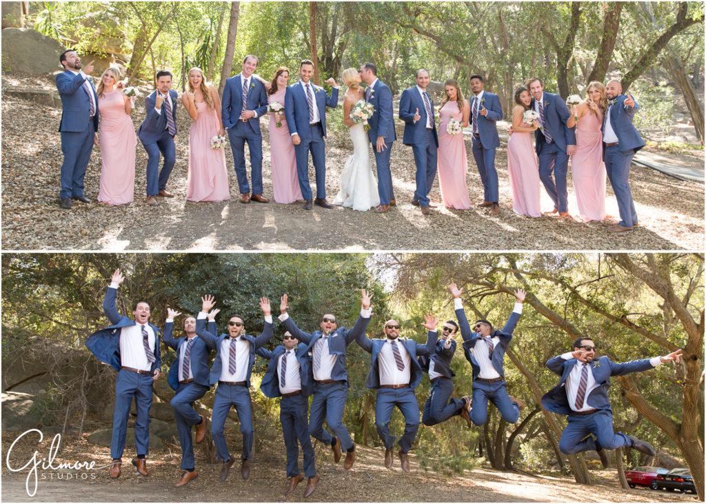18 Large Bridal Party Photo Groomsmen Jumping Bridesmaids Bride